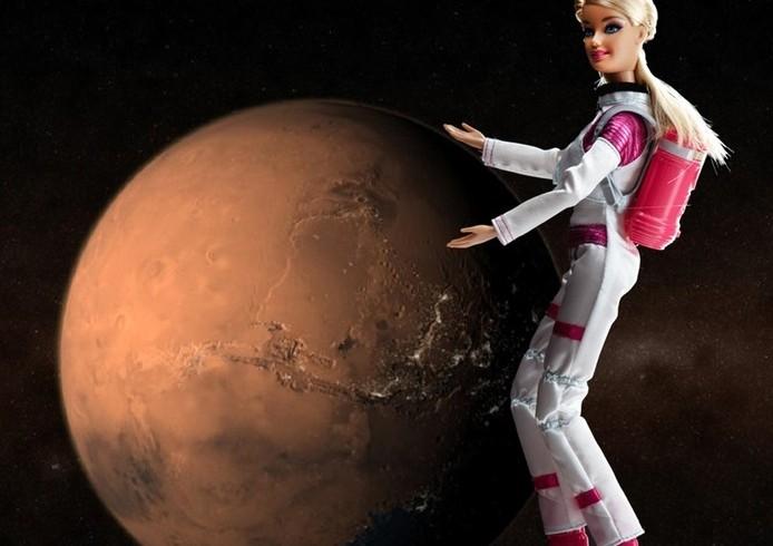 Barbie on Mars