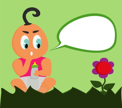 Baby with speech bubble