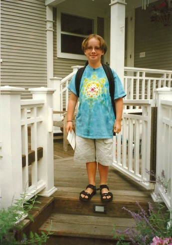 Harry on his first day of 4th grade, 1999.