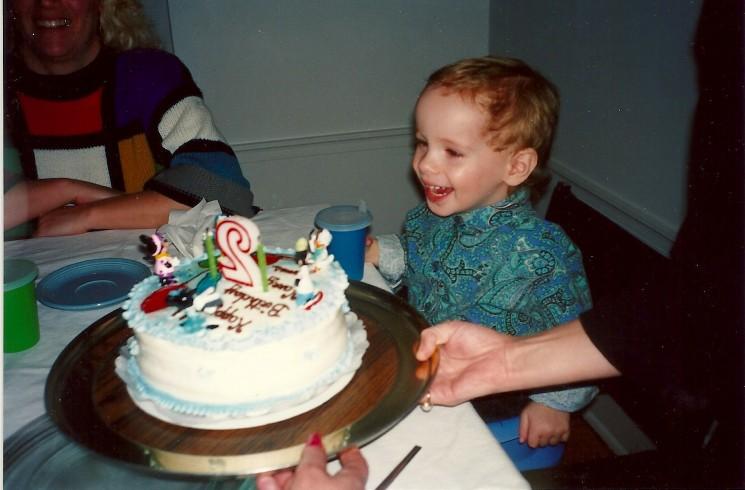 My son's birthdays celebrate happiness.