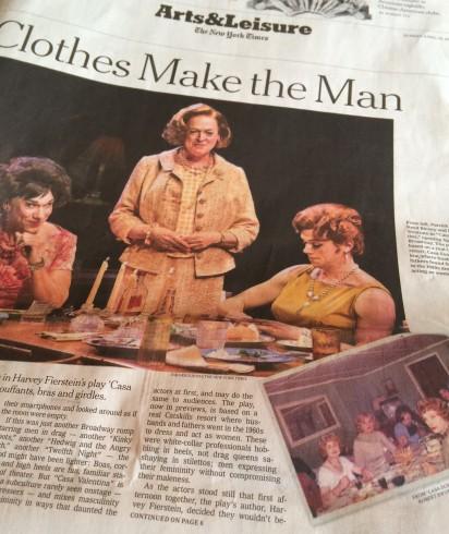 "Harvey Fierstein's ""Casa Valentina"" opens April 23 on Broadway."