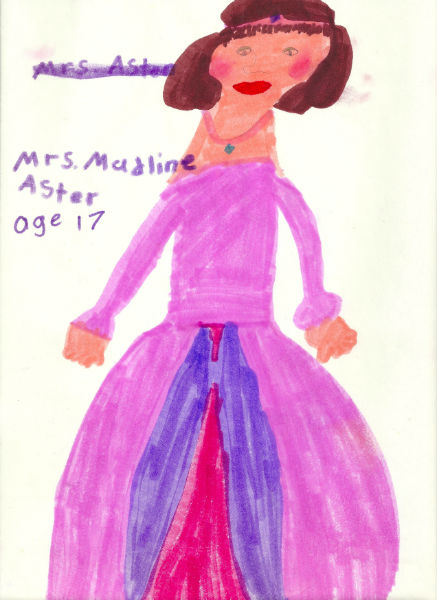 Portrait of Madeleine Astor, by Harry, 1998