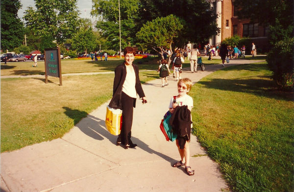 Harry & me, first day of first grade, 1996