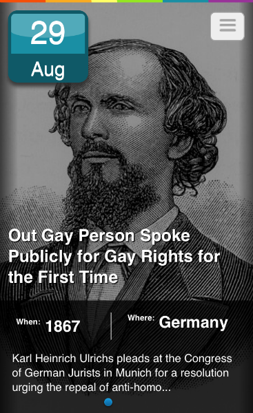 Today in LGBTQ history.