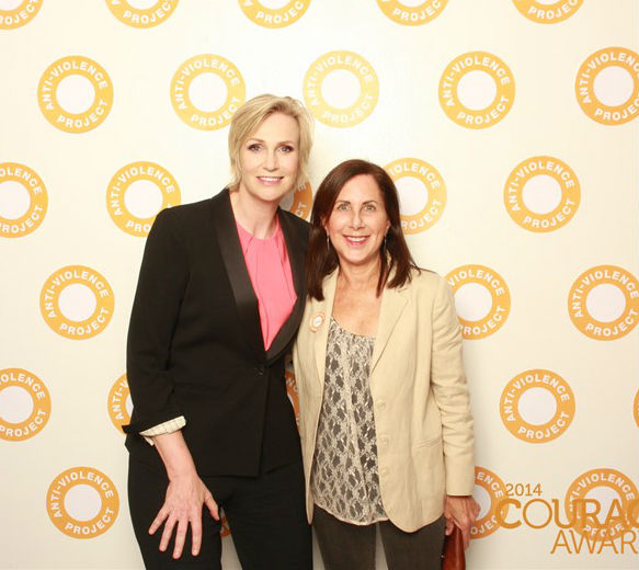 Lucky me with actress Jane Lynch at the AVP Courage Awards 2014