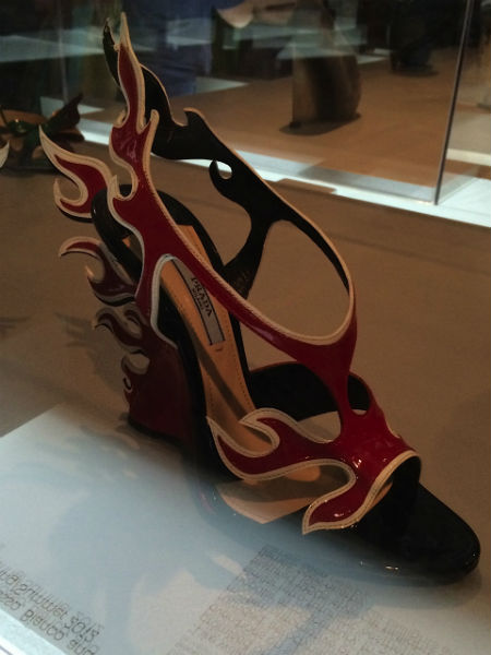 Prada's flame heels for spring/summer 2012 at Brooklyn Museum