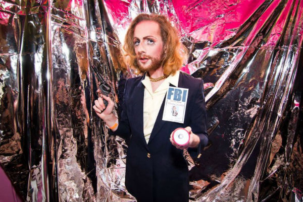 My son as Agent Dana Scully, Halloween 2014.