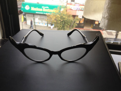 Connie Marble's glasses, soon to be bejeweled.