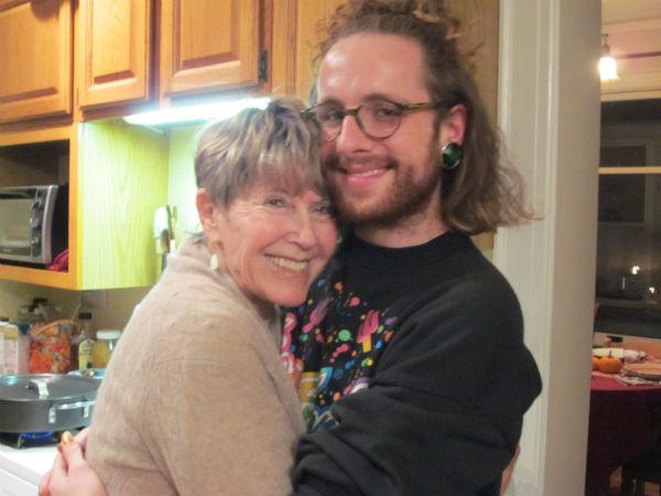 Harry & his Aunt Leslie, Thankssgivikah, 2013.