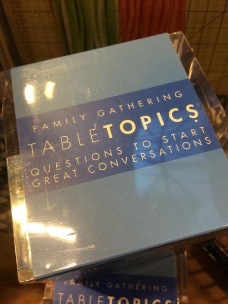 Table Topics SIZED