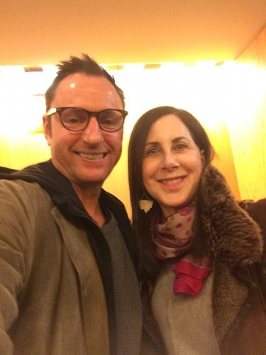 "Writer/director Eric Schaeffer & me at a preview of ""Boy Meets Girl"""