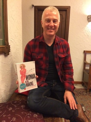 My friend Geoff & my new copy of Woman in the Making