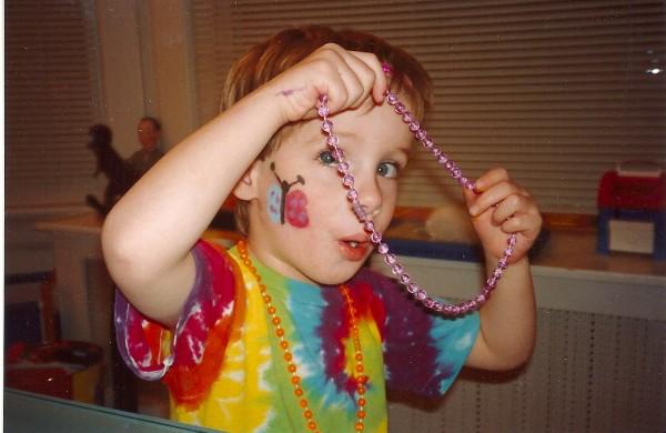 Harry's Birthday Party beads, 1994.
