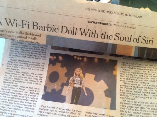 Get ready for chatterbox Barbie.