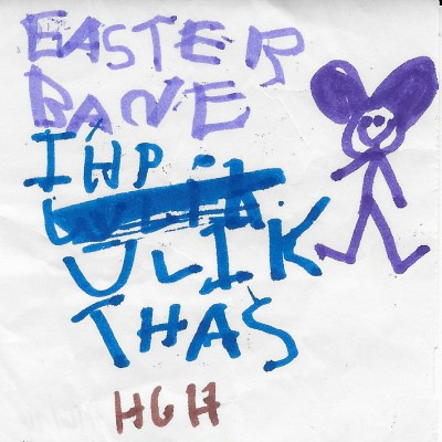 HJ Note to Easter Bunny 1995